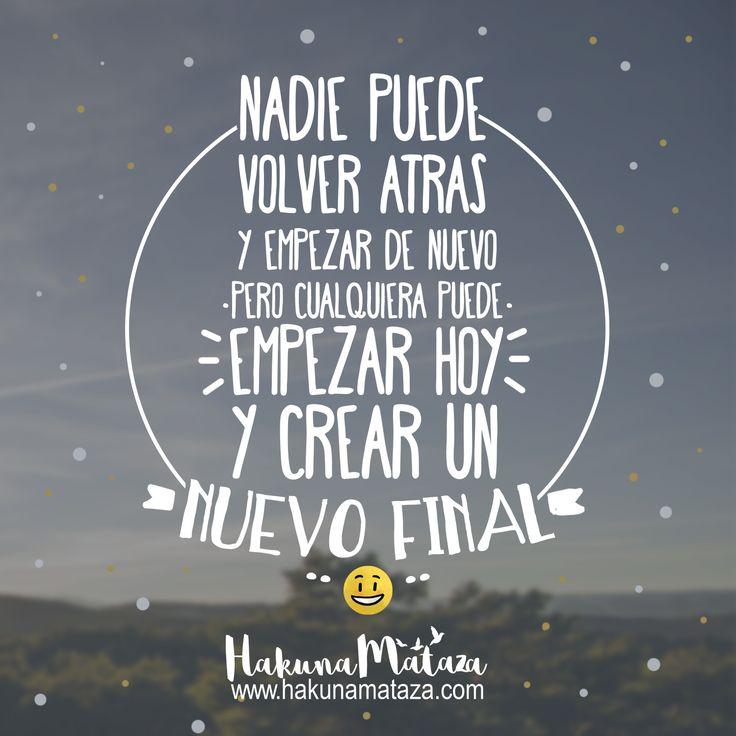 ¡Hoy es un buen día para empezar , feliz viernes! www.hakunamataza.com ... #HakunaMataza #Motivación #Frases #SéFeliz #Regalos #Viernes
