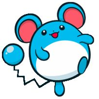 #Marill from the official artwork set for #Pokemon Channel on #Gamecube. http://www.pokemondungeon.com/pokemon-channel