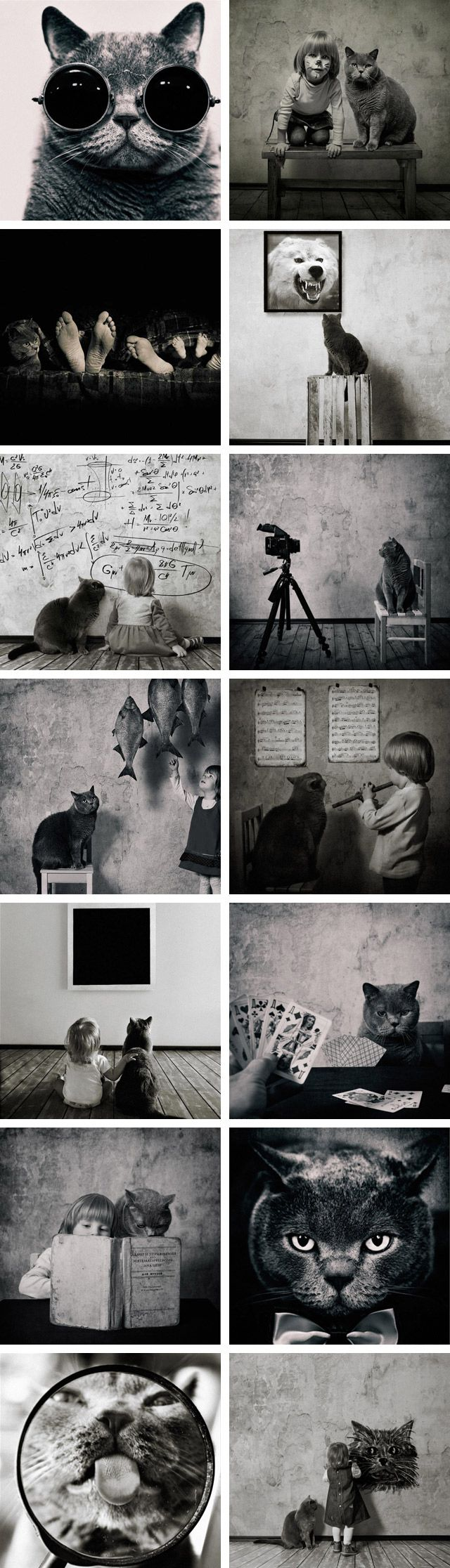 A Girl and her cat ... gorgeous photos by Andy Prokh.