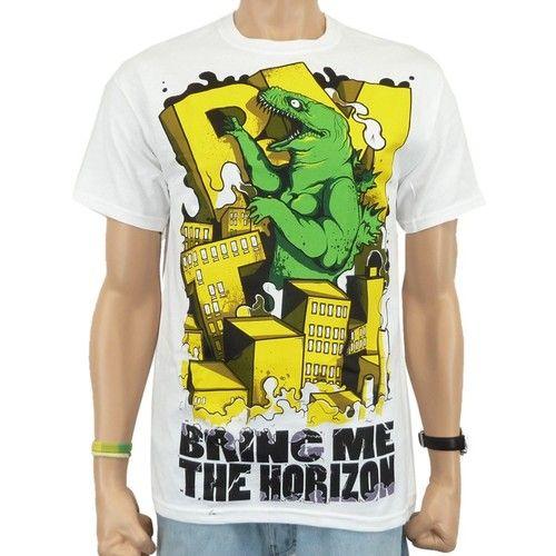 Bring Me The Horizon - Dino Destruction Band T-Shirt, w | eBay