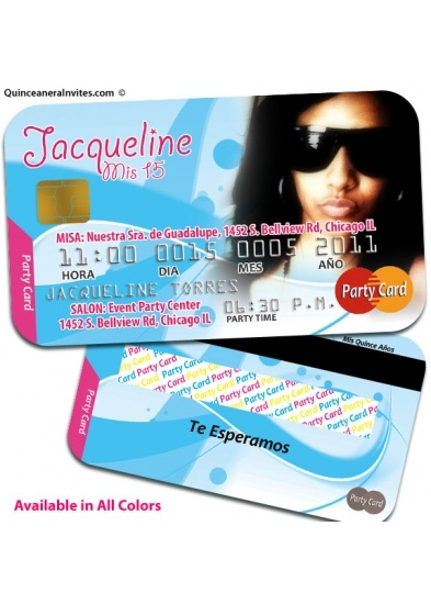 Credit Card Quinceanera Invitations lol