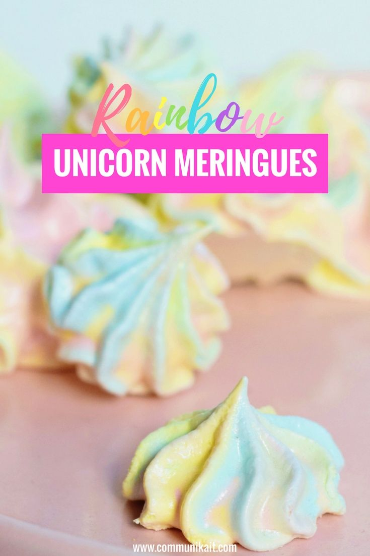 Rainbow Unicorn Meringues