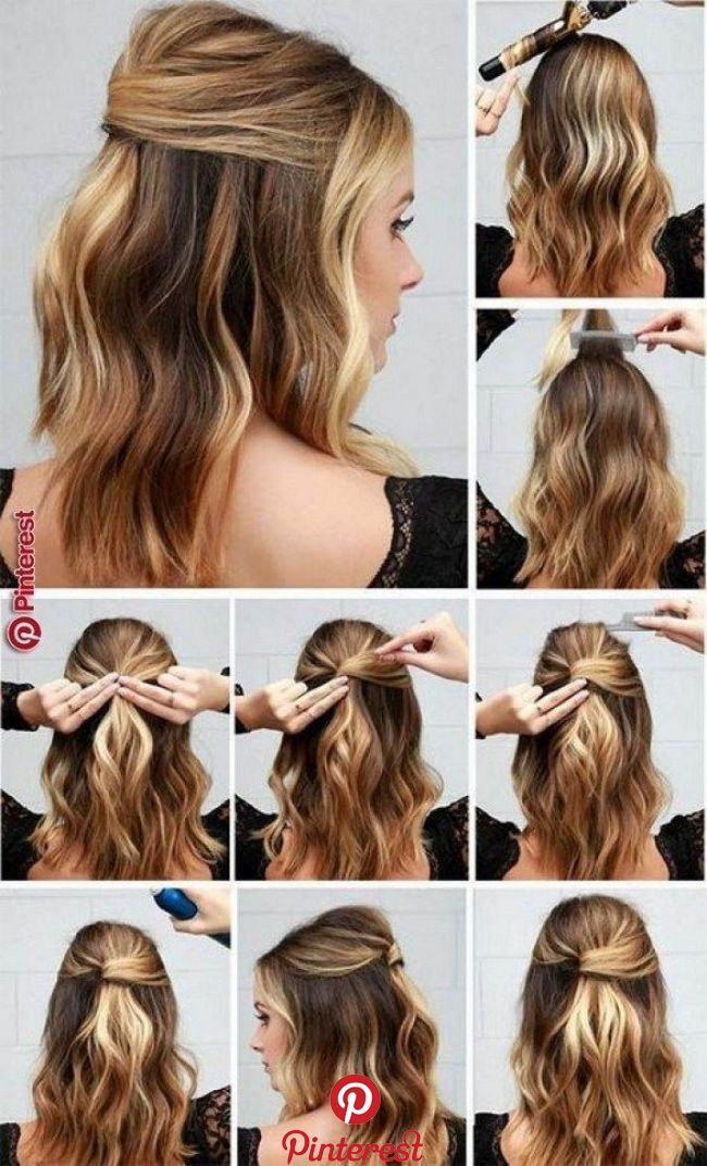Simple Hairstyle Ideas Ready For Less Than 2 Minutes 60 Long Hair Styles Easy Hairstyles Work Hairstyles