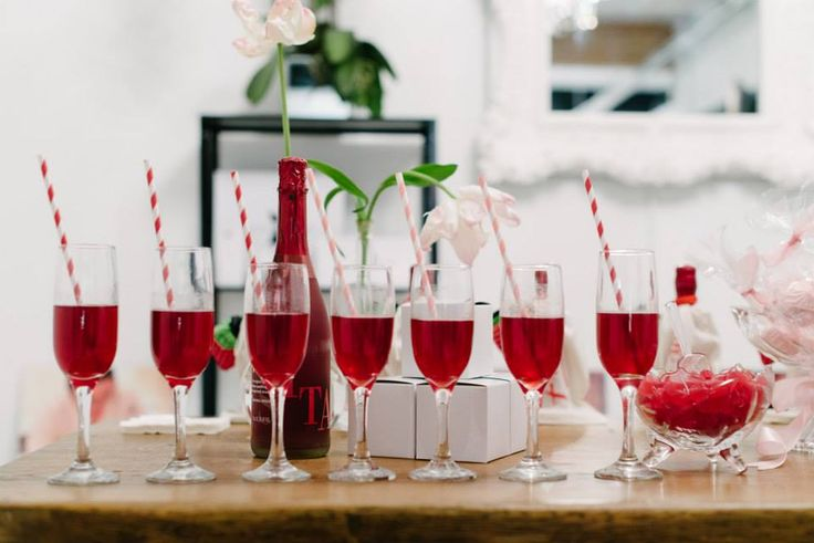 Have your drinks already lined up as guests arrive!