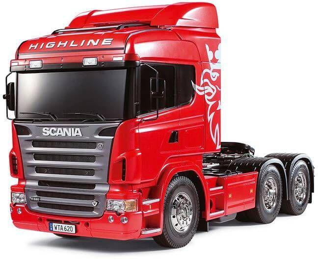 Tamiya Scania R620 (56323) Bausatz 1/14  Scania R620 6x4 Highline. Unlackiert.      Komplettbausatz zum Bau eines Fahrmodells. Zur vollständigen Fertigstellung als Fahrmodell werden zusätzlich... #tamiya #scania #bausatz #rc #R620