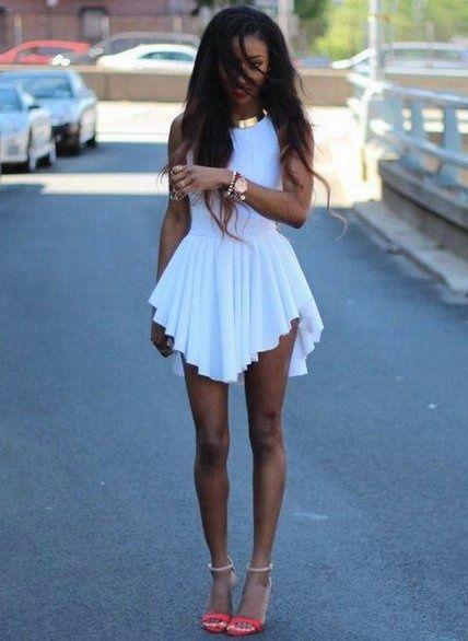 White Beauty #fashion #dress