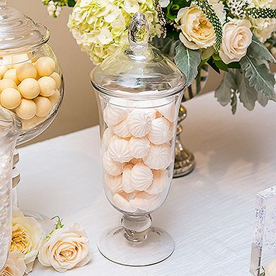 Decorative Glass Candy Jars With Lids.  Great Container For Impressive Decorative Centre-Pieces Or Candy Buffets.