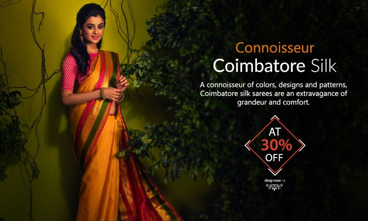 Tradition with a twist – Newfangled Coimbatore silksarees at 30% off!