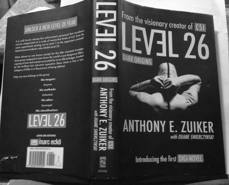 Level 26: Dark Origins, Anthony E. Zuiker, 1st print hardcover 1990 science fict