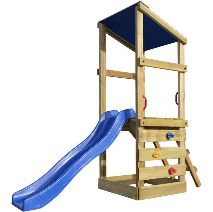 vidaXL Aire de jeux avec échelle et toboggan en bois 260x90x235 cm - 272474 - Jardin piscine
