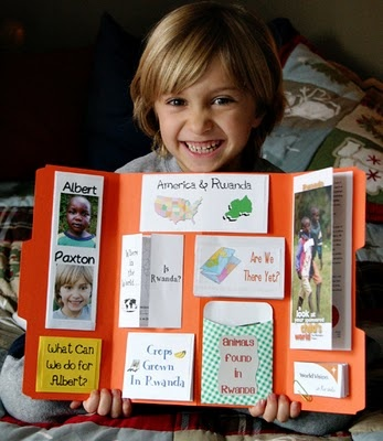 sponsored child lap book