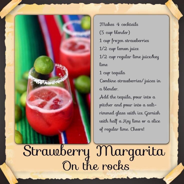 Strawberry Margarita, On The Rocks