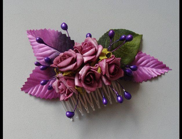 hairflowers purple roses