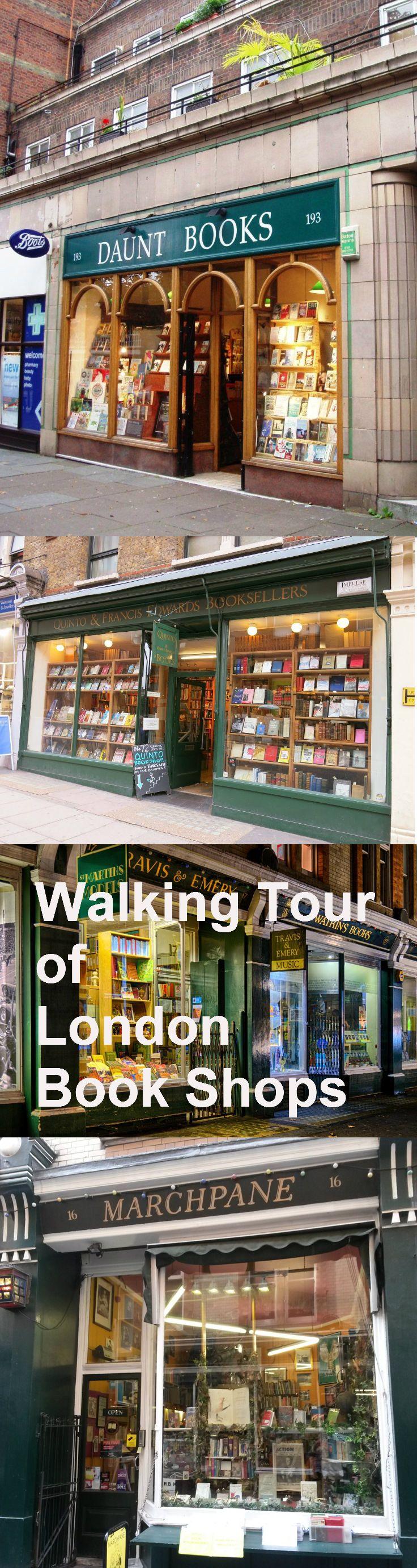 Walking Tour of London Book Shops