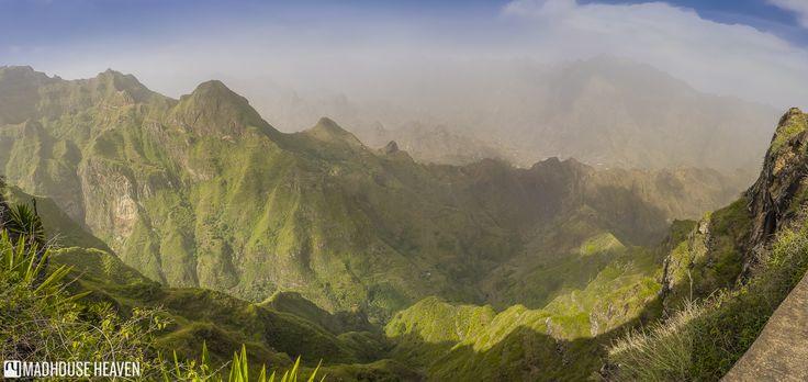 Vista along the drive on the Rua de Corda, in the scenic area around the Cova crater.  Xôxô Valley, Santo Antão, Cape Verde.