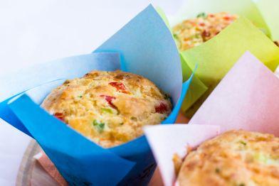 Briose cu ardei gras/  Paprika Muffins