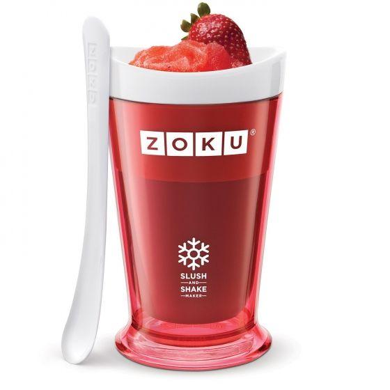Granizados saudáveis, batidos, smoothies de fruta e bebidas alcoólicas congeladas em apenas 7 minutos com a Slush & Shake Maker da Zoku. Experimente também ingredientes como fruta misturadas, sumos naturais, leite de soja, leite com chocolate, café adoçado, refrigerantes ou bebidas energéticas. As opções são ilimitadas!