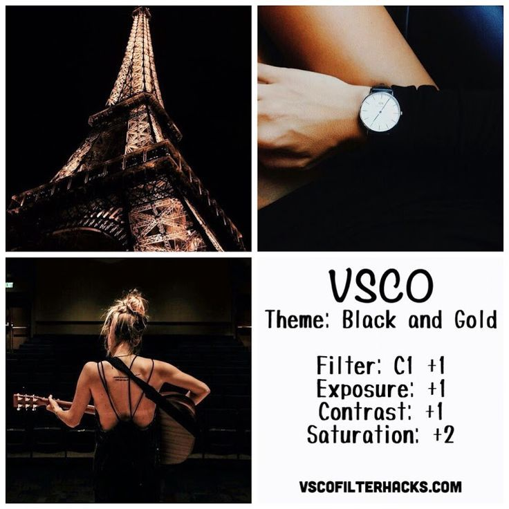 Black and Gold Instagram Feed Using VSCO Filter C1