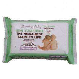 Organiczne chusteczki nawilżane do skóry bardzo delikatnej Beaming Baby Toddlersi