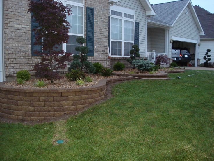 Retaining Wall Amp Front Yard Landscaping O Fallon Missouri Outdoor Spaces Oh My