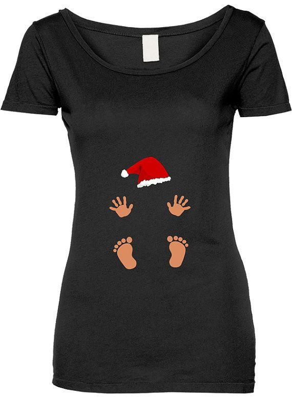Funny Baby Santa Prints Tshirt Gift T Shirt Tee Shirt