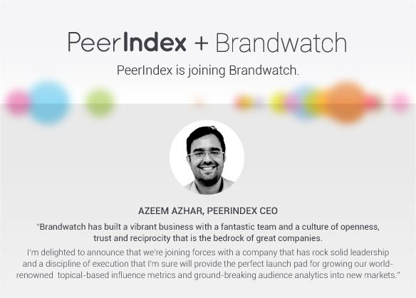 Brandwatch acquires analytics firm PeerIndex