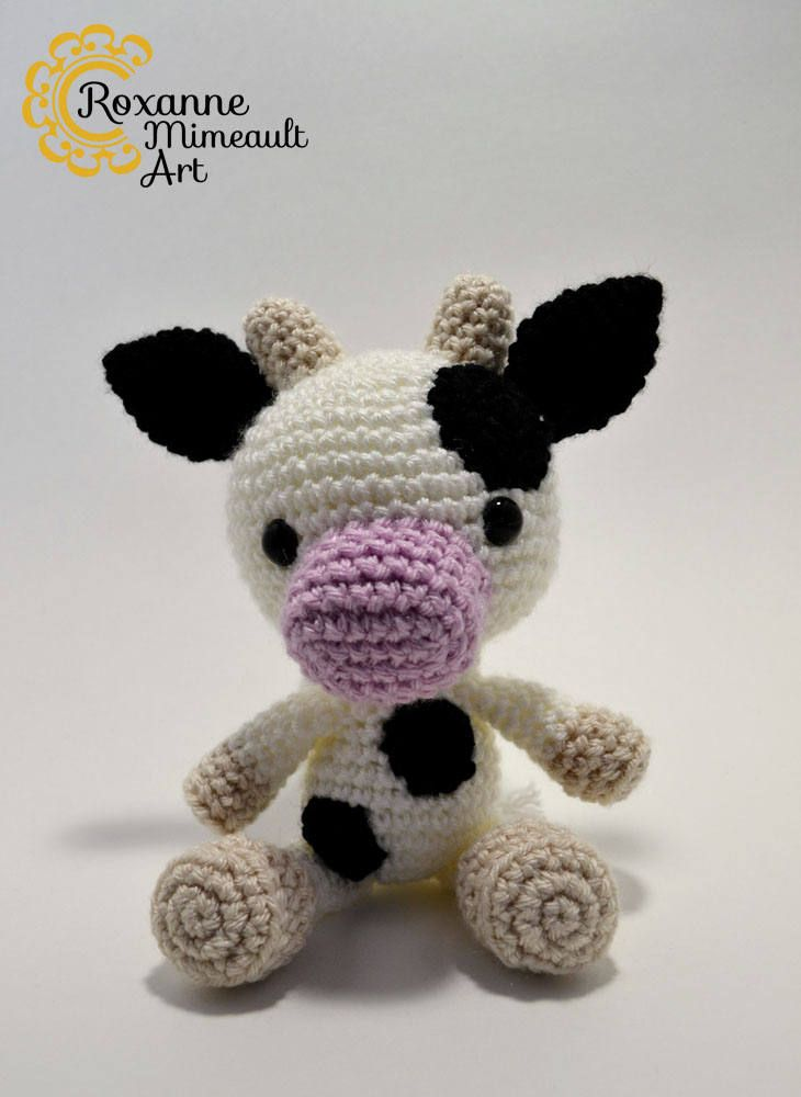Disponible Dans Ma Boutique Etsy Small Cow Amigurumi Stuffed Toy