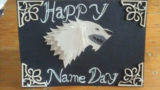 Game of thrones Stark Happy Name Day birthday card