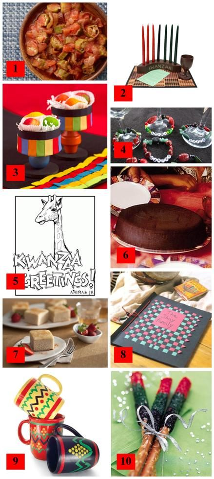 Holiday Roundup: Celebrate Kwanzaa! · Edible Crafts | CraftGossip.com