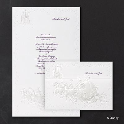 cinderellas carriage cinderella wedding invitations httpbustlingbridecarlsoncraftcomdisney - Cinderella Wedding Invitations