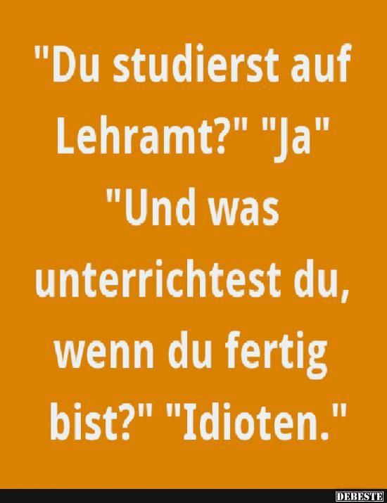 Du studierst auf Lehramt? | DEBESTE.de, Lustige Bilder, Sprüche, Witze und Videos