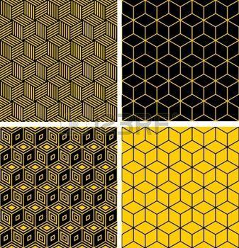 シームレスなパターンを設定します。目の錯覚効果で幾何学的テクスチャ。 photo
