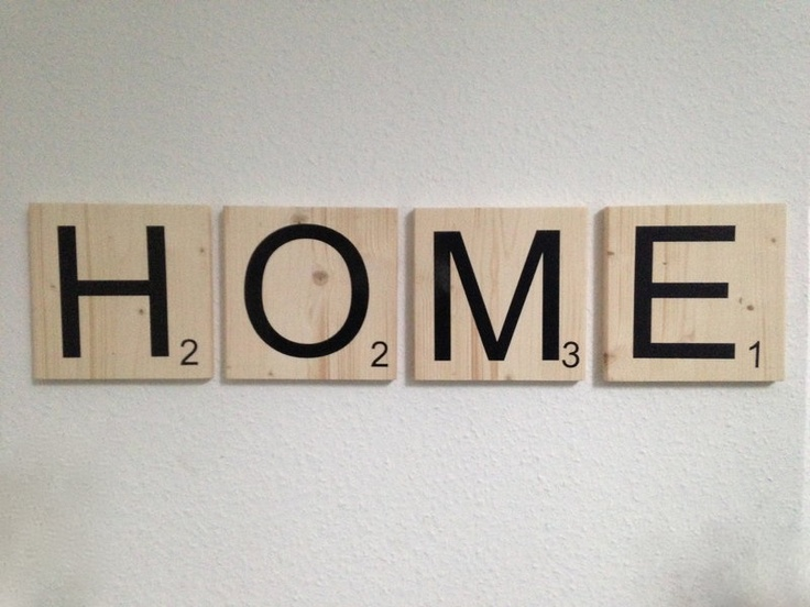 Buchstaben, Holz - KUNSTetKREMPEL