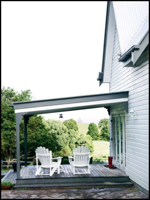create a covered porch love this idea: Houses Ideas Backyard, White Houses, Country Houses, Nice Houses, Witta Houses, Real Living Magazines, Back Porches, Covers Porches, Covered Porches