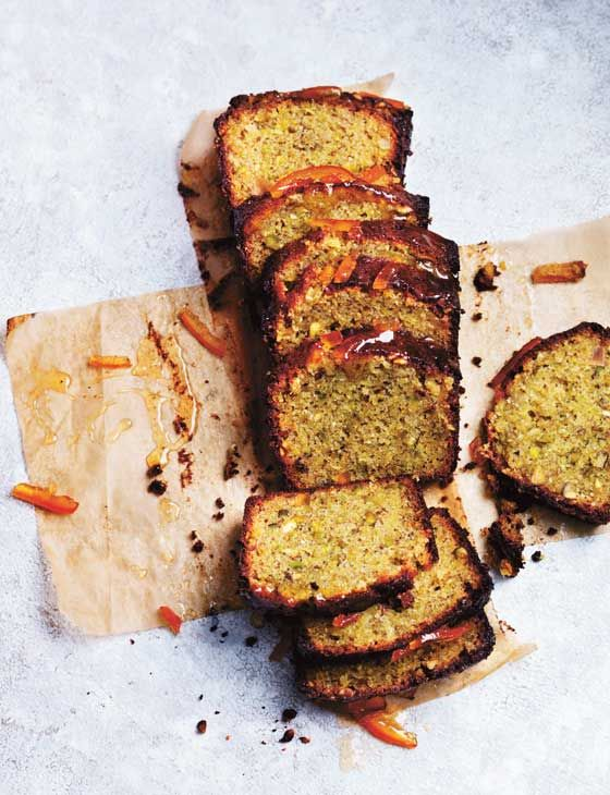 Cardamom, pistachio and marmalade drizzle loaf - Sainsbury's Magazine