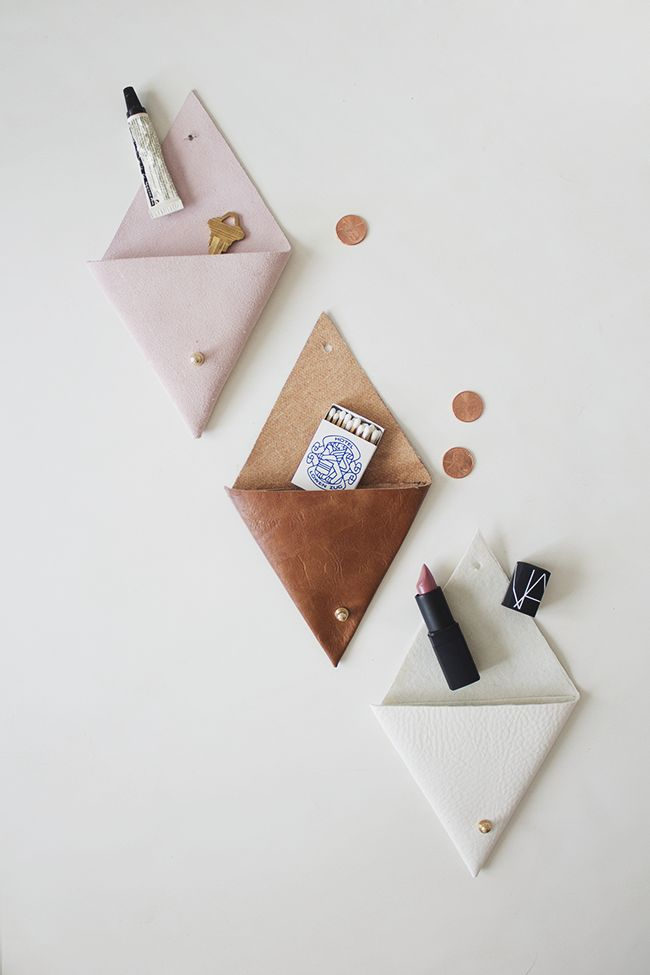 DIY leather pouches | almost makes perfect copy