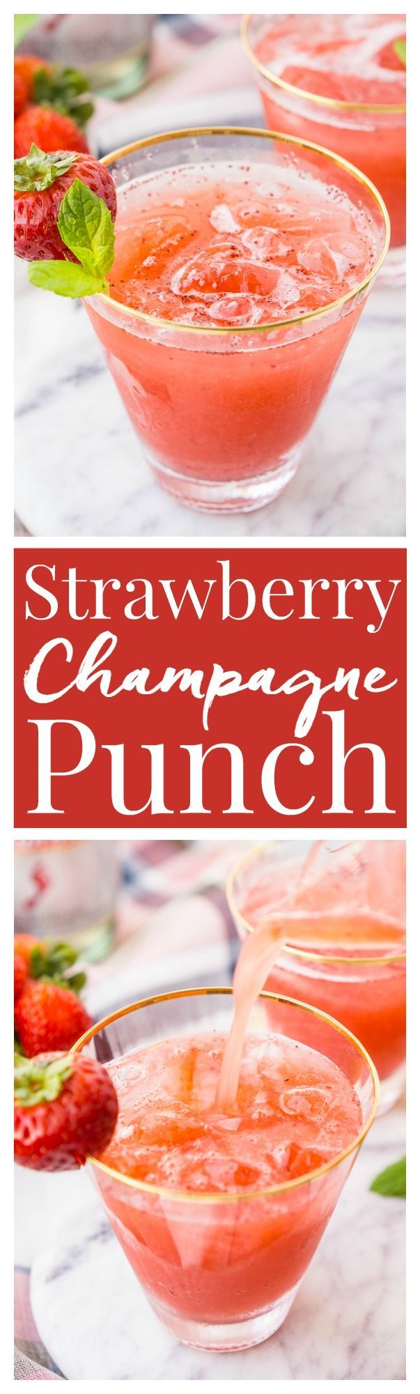 Strawberry Champagne Punch
