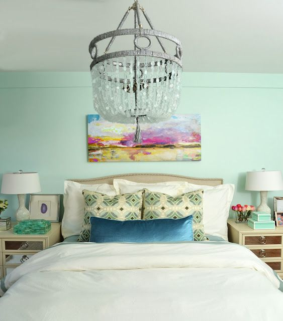 Mint bedroom for upper west side apartment with duralee for Furniture stores upper west side
