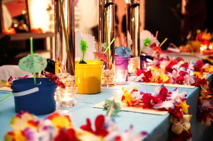 Koh samui themed table at a think thai party party ideas for Thai decorations ideas