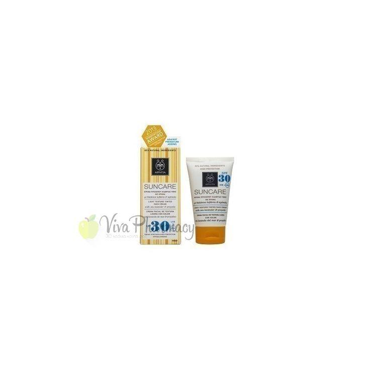 APIVITA SUNFACE TINTED SPF30 50ml - Vivapharmacy.gr - Online Φαρμακείο - Βρείτε καλλυντικά, βρεφικά προϊόντα, συμπληρώματα διατροφής