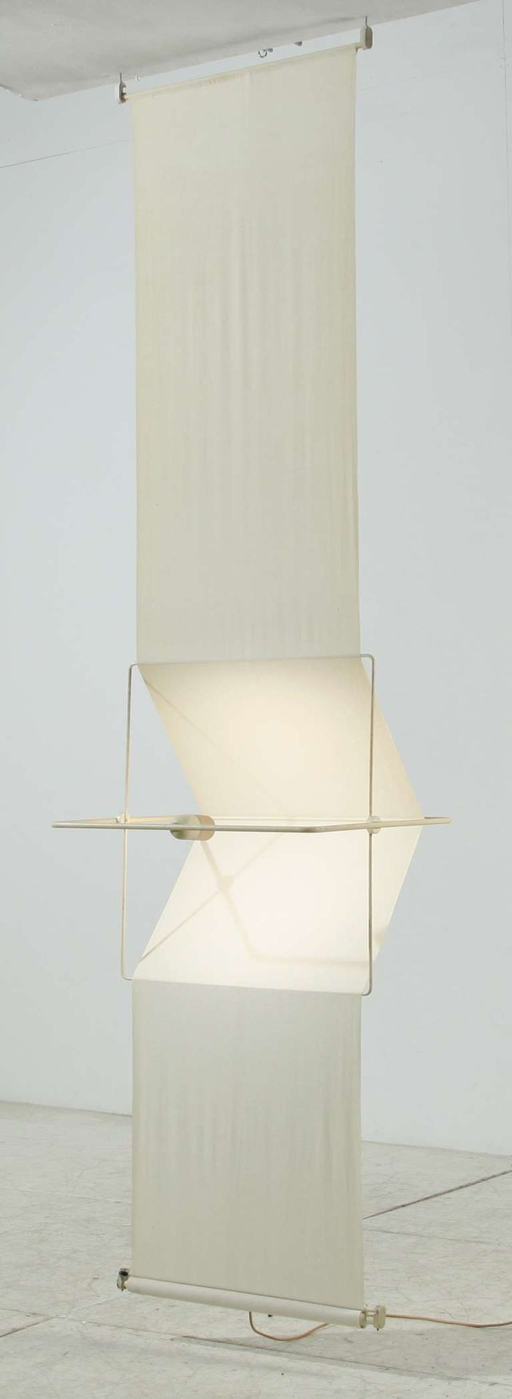 "Rare ""Quinta"" lamp and room divider by Silvio Coppola, Artemide, Italy, 1970s 3"