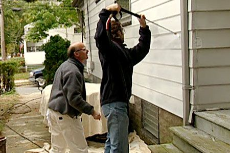 with Painter Jim Clark | thisoldhouse.com | from How to Prepare Aluminum Siding for Paint