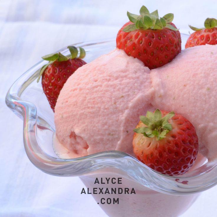 Strawberry Yoghurt Sorbet