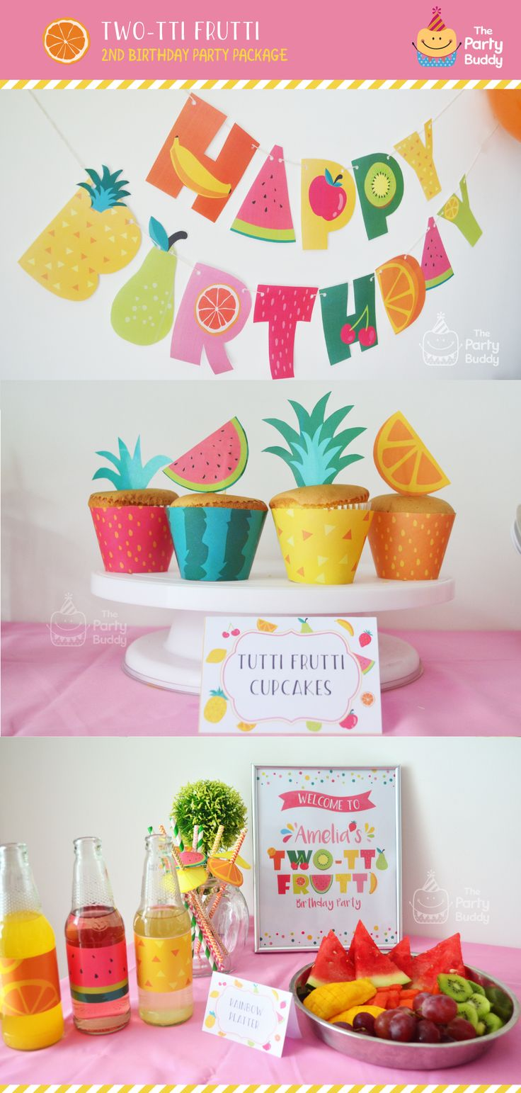 What a sweet theme! http://etsy.me/2q0IZLp A personal favorite from my shop. Twotti Frutti Fruit Birthday Party for your cutie! Created by ThePartyBuddy