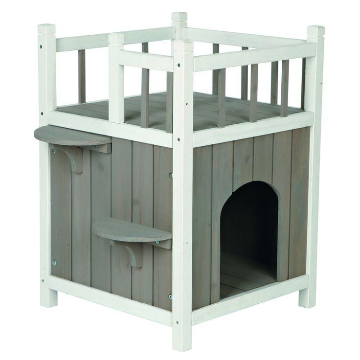 Trixie Outdoor Katzenhaus Cat's Home mit Balkon 44093