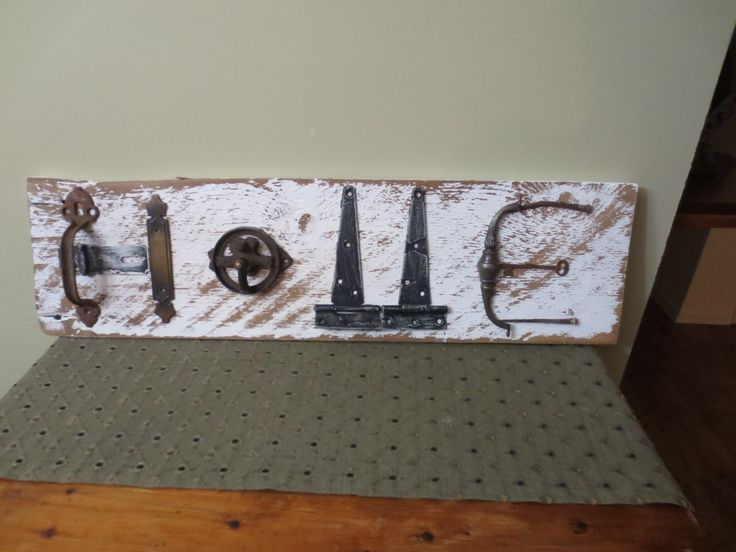 Salvage HOME sign
