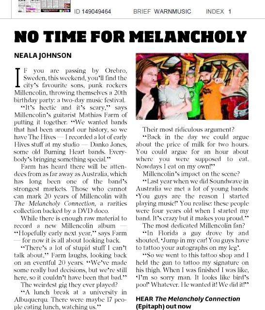 Herald Sun feature June 7 2012