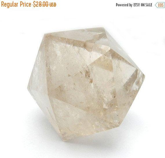 10% off SALE Smoky Quartz Icosahedron Smoky by RockParadise