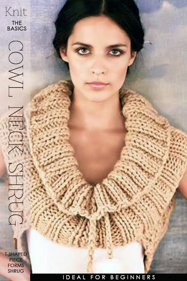 Needlecrafts - Knit - Cowl Neck Shrug