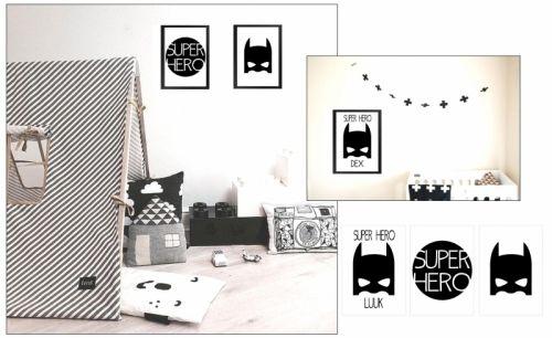 Poster superheld masker | Posters | Babykamer | Kamers | HippeKinderSpullen.nl